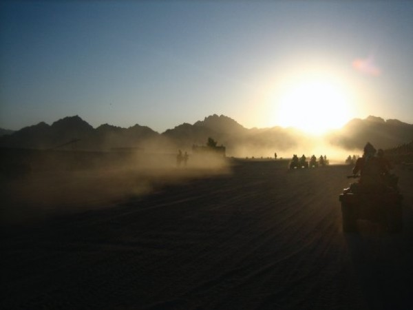 Egyptians love to ride four wheelers into the desert, especially at dusk and into the night – it's really fun and it's something you can do in any part of Egypt – on the North Coast, in Sinai, anywhere! Photo: Malaka Gharib